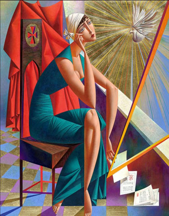 Picture-18 ( 20 Vibrant Cubist Art works and Illustrations by Georgy Kurasov )